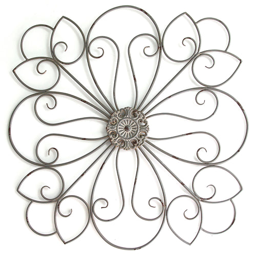 Stratton Home Decor Delicate Scroll Medallion Wall Decor