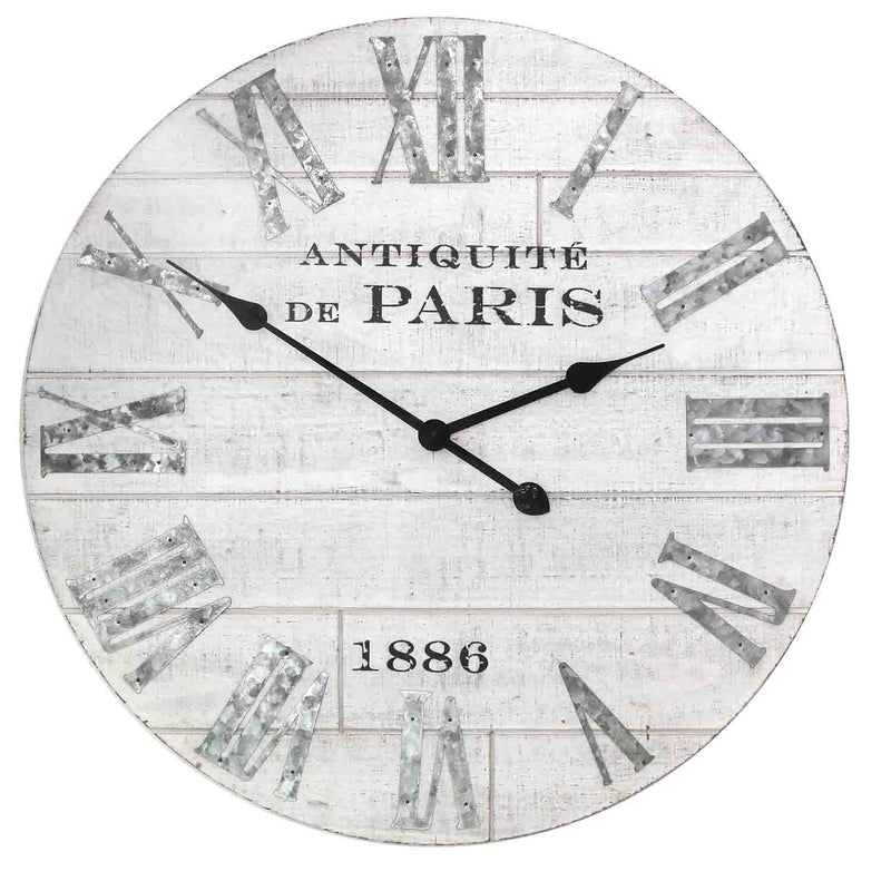 Stratton Home Decor Distressed Wood Clock
