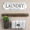 Stratton Home Decor Laundry Enamel Wall Art