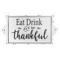 Stratton Home Decor Eat, Drink & be Thankful Enamel Wall Art