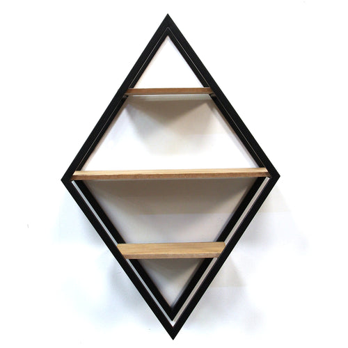 Stratton Home Decor Diamond Shelf Wall Decor