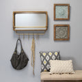 Stratton Home Decor Madison Mirror with Shelf & Hooks