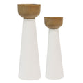 Stratton Home Decor Set of 2 Pillar Candlestick