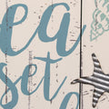 "Stratton Home Decor ""Let The Sea Set You Free"" Wall Decor"