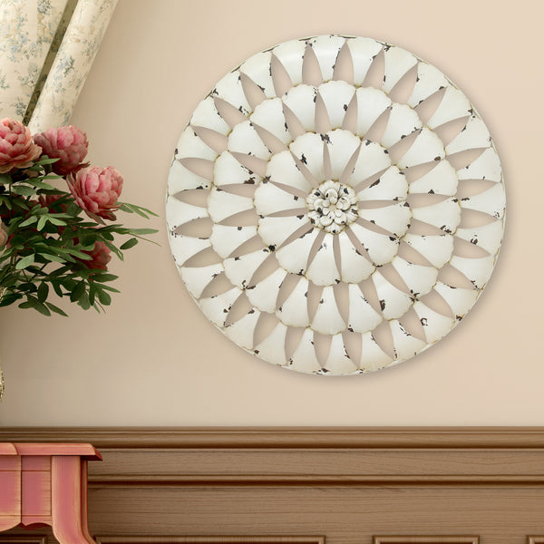 Distressed Medallion Wall D Cor Stratton Home Decor