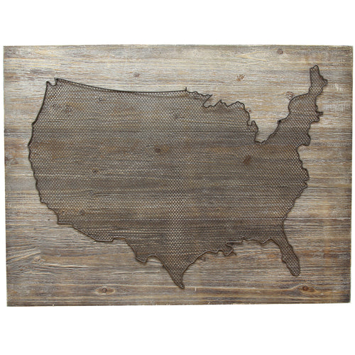 USA Wood Panel Wall Decor