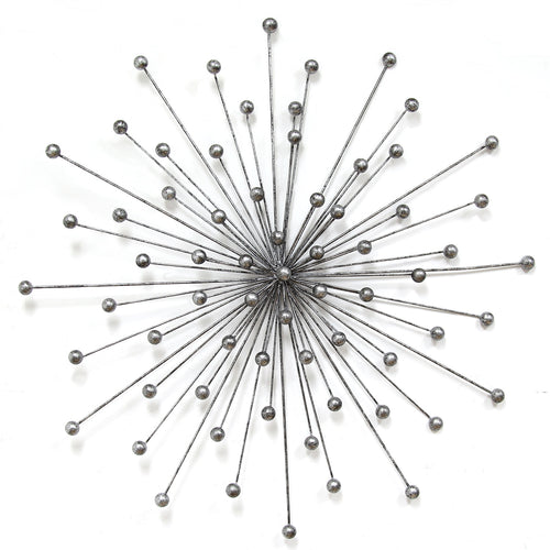 Silver Burst Wall Décor