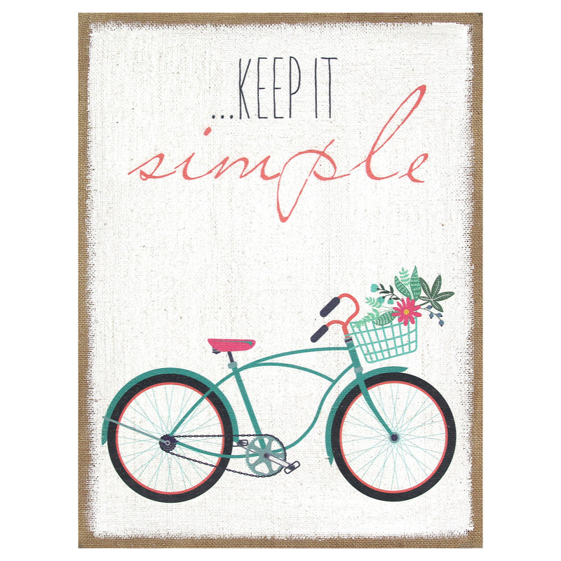 """Keep It Simple"" Burlap Wall Art"