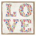 """Love"" Burlap Wall Art"