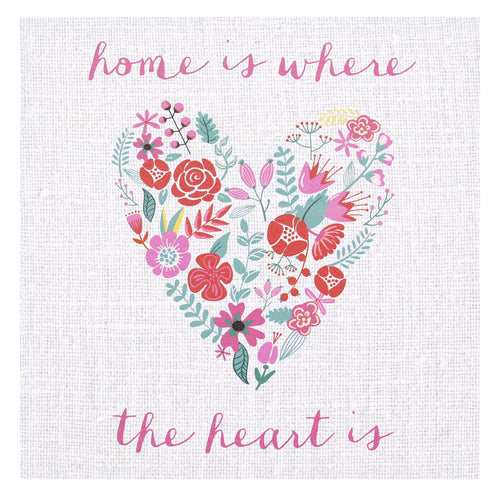 """Home"" Canvas Wall Art"