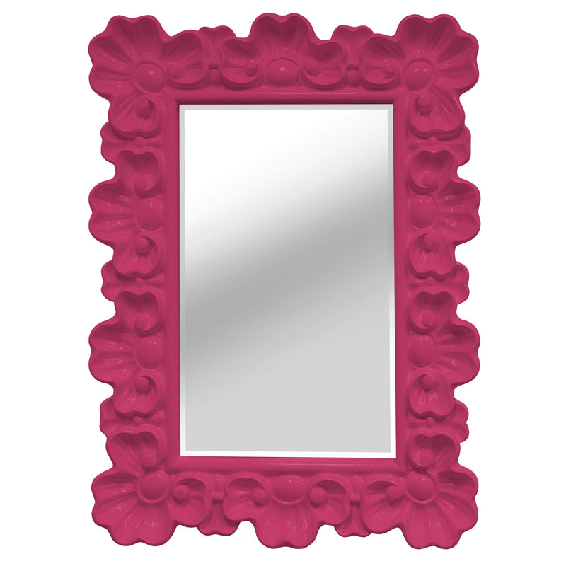 Stratton Home Décor Pink Elegant Ornate Wall Mirror