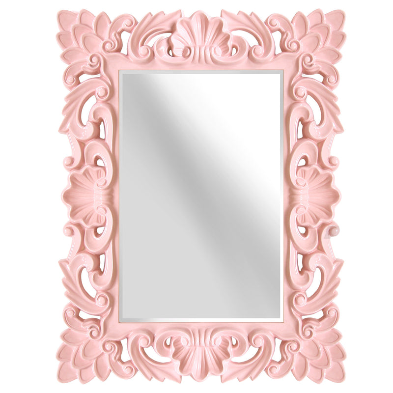 Stratton Home Décor Blush Elegant Ornate Wall Mirror