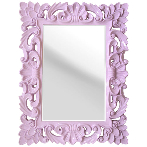 Stratton Home Décor Lavender Elegant Ornate Wall Mirror