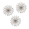 Stratton Home Décor Set of 3 Gold Burst Wall Décor