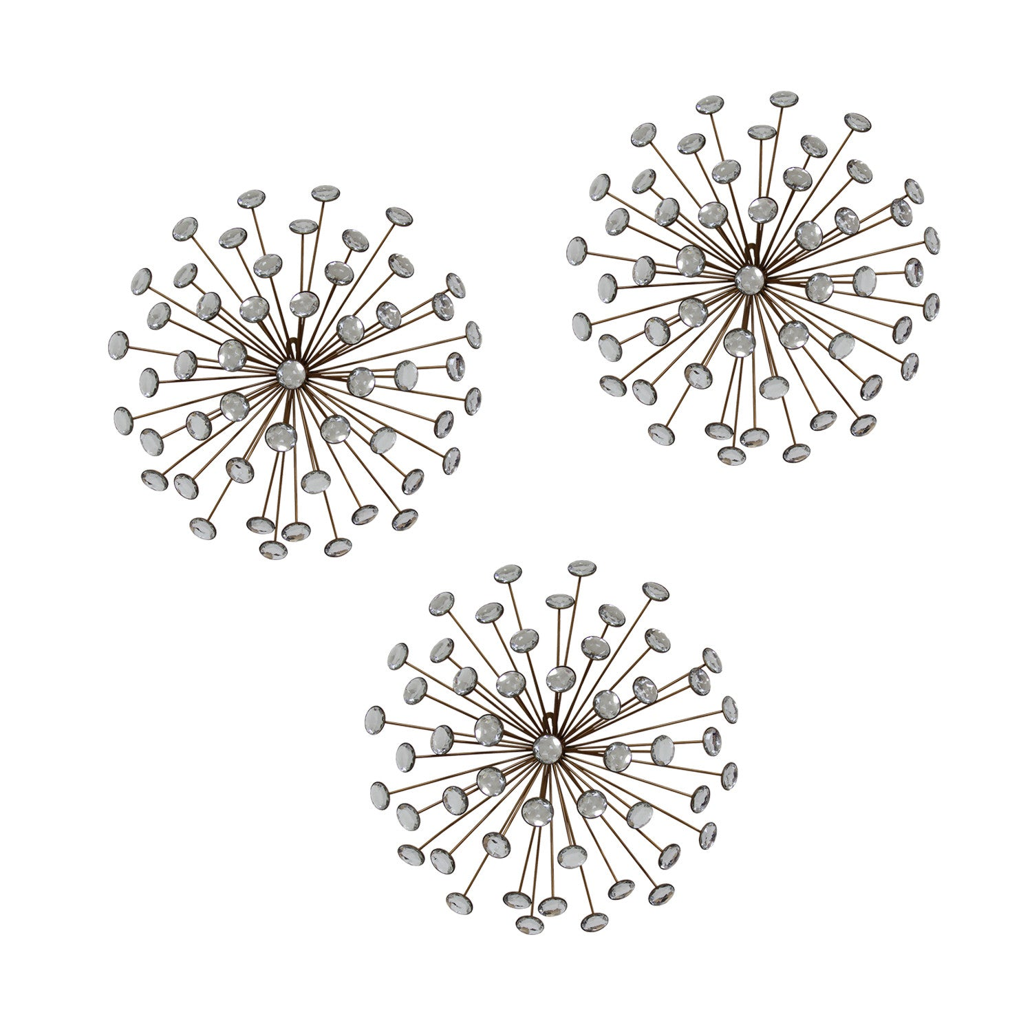 Stratton Home D cor Set of 3 Gold Burst Wall D cor. Stratton Home D cor Set of 3 Gold Burst Wall D cor   Stratton Home