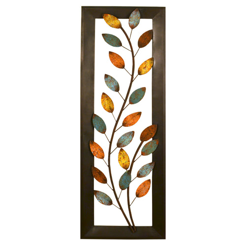 Stratton Home Décor Winding Leaves Panel Wall Décor