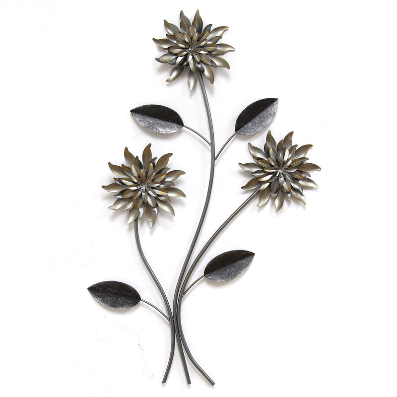 3 Stem Flowers Wall Décor