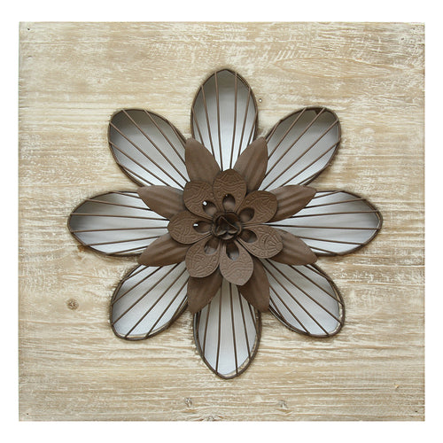 Stratton Home Décor Rustic Flower Wall Décor