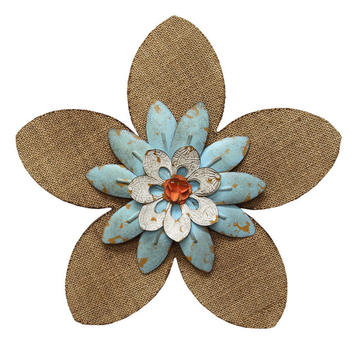 Burlap Flower Wall Decor