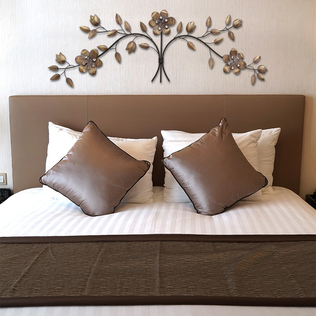 over the door floral bouquet wall d cor stratton home decor. Black Bedroom Furniture Sets. Home Design Ideas