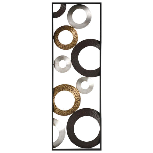 Stratton Home Décor Metallic Geometric Panel Wall Décor