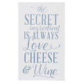 Stratton Home Décor Love Cheese Wine Wall Art