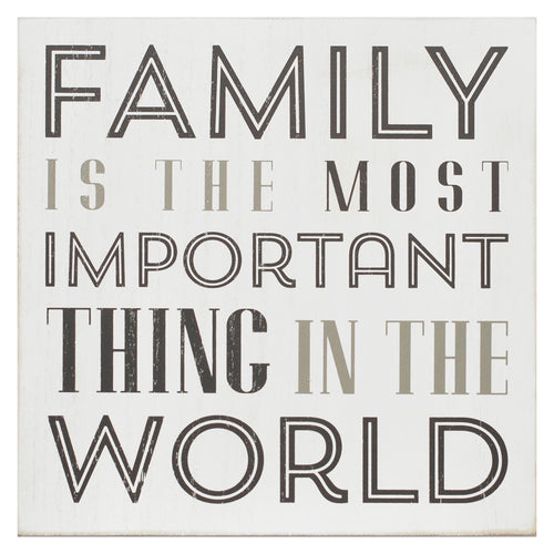Stratton Home Décor Family Is The Most Important Box Wall Art