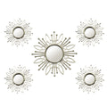 Stratton Home Décor 5 Piece Champagne Burst Wall Mirror