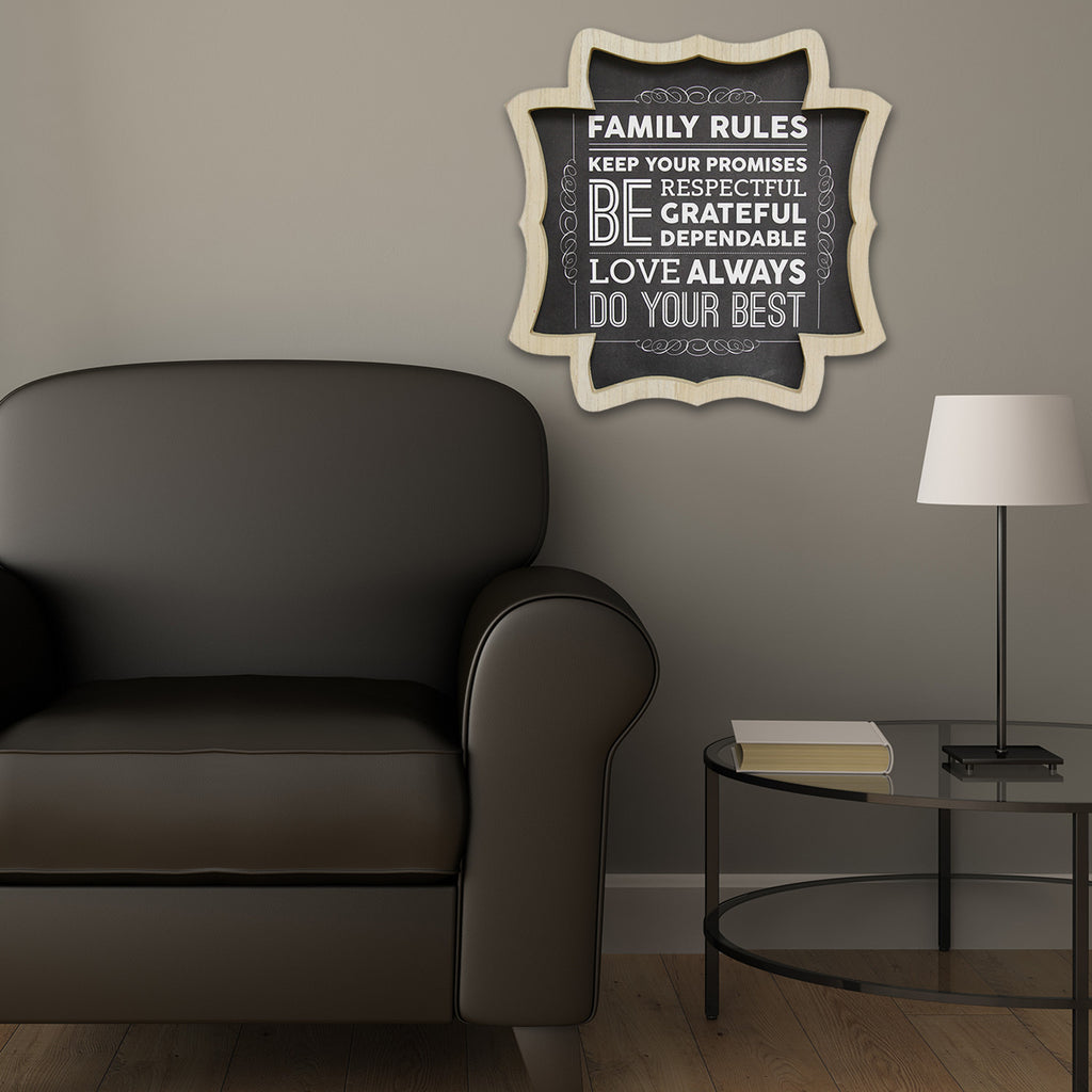 Stratton home d cor family rules wall art stratton home for Home decorating guidelines