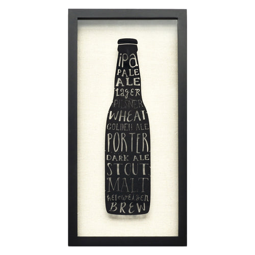 Types of Beer Shadowbox Wall Art
