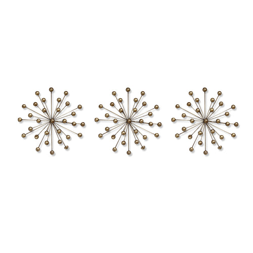 Stratton Home Décor Set of 3 Gold Burst