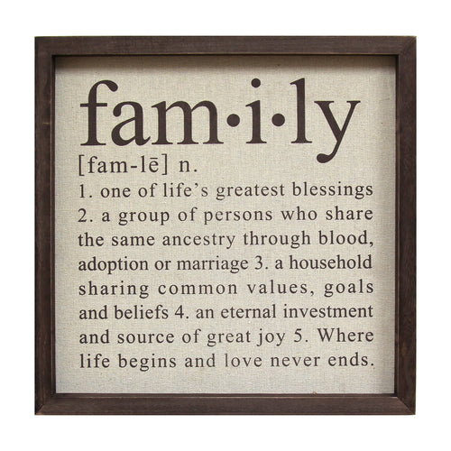 Definition of Family Wall Décor