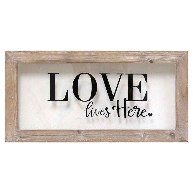 Stratton Home Décor Love Lives Here Framed Art