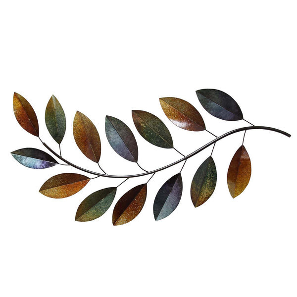 Metal leaves wall d cor stratton home decor for Metal leaf wall art
