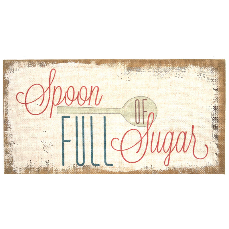 """Spoon Full of Sugar"" Burlap Art"