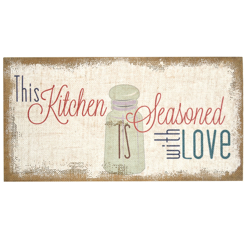 """Seasoned with Love"" Burlap Art"
