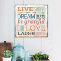 """Love Simply"" Burlap Wall Art"
