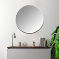 Stratton Home Decor Lily Silver Round Wall Mirror