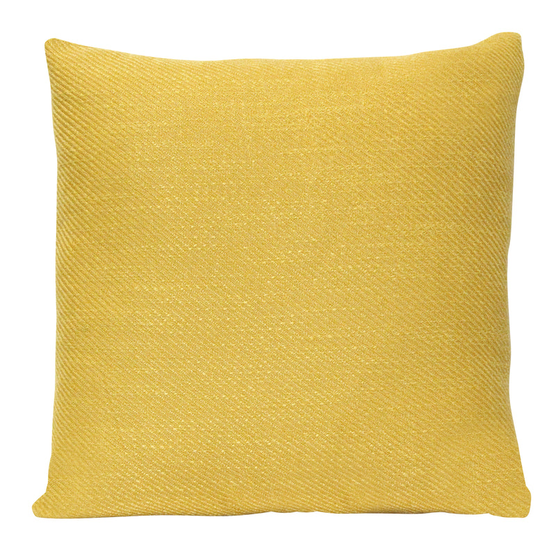"Stratton Home Decor Mustard Tweed 18"" Square Pillow"