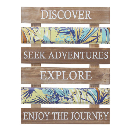 Stratton Home Decor Enjoy the Journey Plank Wall Art