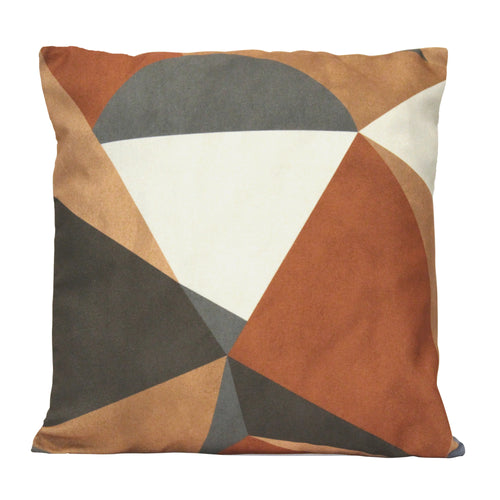 "Stratton Home Decor Desert Sand Abstract 18"" Square Pillow"