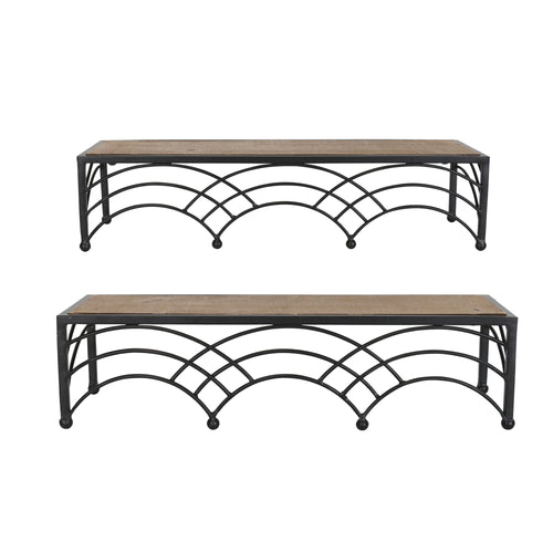 Stratton Home Decor Set of 2 Deco Arch Shelves