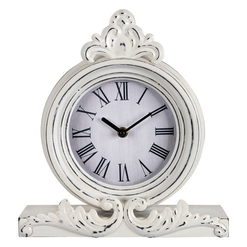 Stratton Home Decor George Antique Metal Table Top Clock