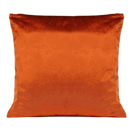 "Stratton Home Decor Burnt Orange Velvet 18"" Square Pillow"