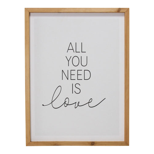 Stratton Home Decor All You Need is Love Framed Wall Art