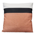 Stratton Home Decor Light Coral And Black Stripe 18 Inch Square Pillow