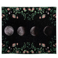 Stratton Home Decor Moon Phases with Floral Border Wall Tapestry