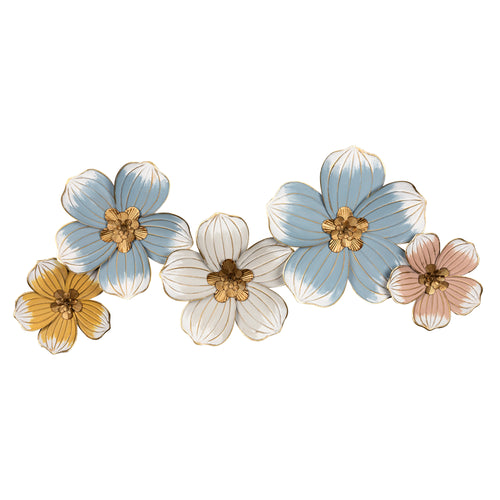 Stratton Home Decor Elegant Metal Floral Wall Decor