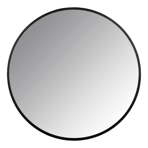 Stratton Home Decor Adriana Black Round Wall Mirror