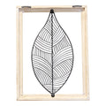 Stratton Home Decor Wood Frame Metal Leaf Wall Decor